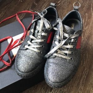Opening Ceremony Glitter Sneaker Black and Red
